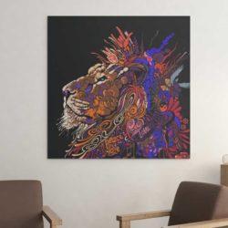 Tableau lion pour chambre