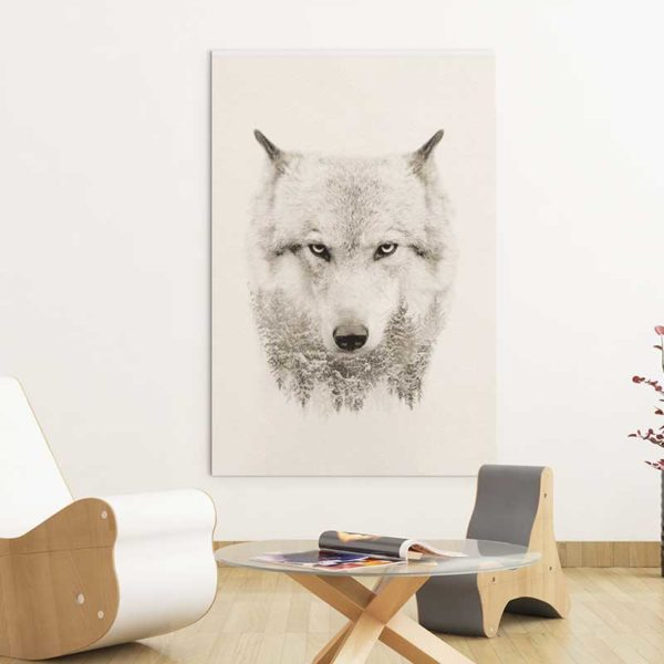tableau loup scandinave