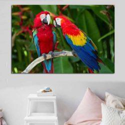 Tableau perroquet sur branche
