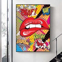 Tableau pop art bouche