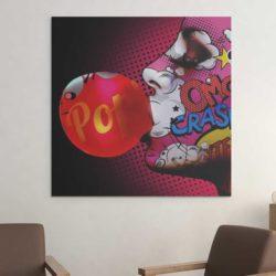 Tableau pop art chewing gum