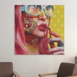 Tableau pop art jaune