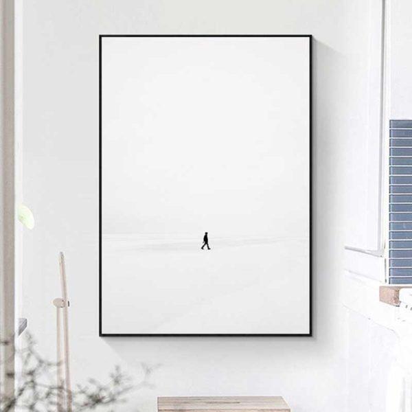 Tableau scandinave blanc