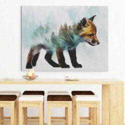 tableau scandinave renard