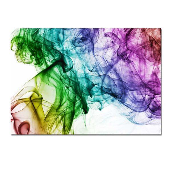 tableau sur toile abstrait fumée