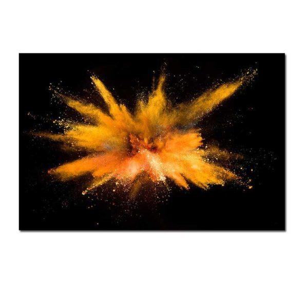 Tableau sur toile abstrait orange