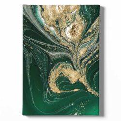 tableau sur toile abstrait vert