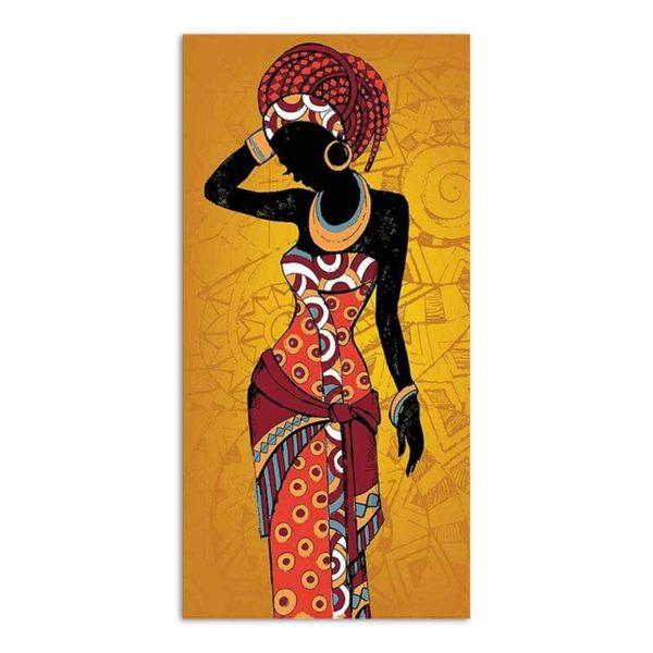 Tableau sur toile africain orange