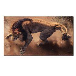 Tableau sur toile lion 3d