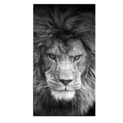 Tableau sur toile lion contemporain
