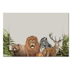 Tableau sur toile lion jungle