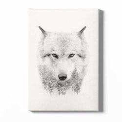 tableau sur toile loup scandinave